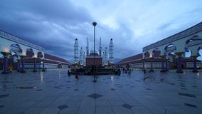 Timelapse of Great Mosque of Central Java stock video