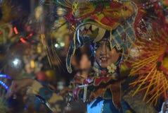 Semarang nattkarneval 2016 Arkivbild