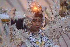 Semarang nattkarneval 2017 royaltyfri bild