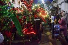 Semarang nattkarneval 2017 royaltyfria bilder