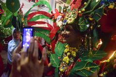 Semarang nattkarneval 2017 royaltyfri fotografi