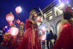 Semarang nattkarneval 2017 arkivfoton
