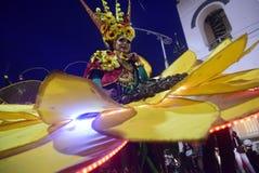 Semarang nattkarneval 2017 arkivbild