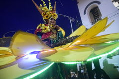 Semarang nattkarneval 2017 royaltyfri foto