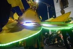 Semarang nattkarneval 2017 fotografering för bildbyråer