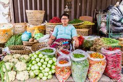 Lady at the market royalty free stock image