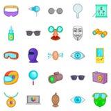 Semblance icons set, cartoon style. Semblance icons set. Cartoon set of 25 semblance vector icons for web isolated on white background Stock Photo