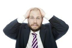 Sembler d'homme d'affaires de barbe choqué Image stock