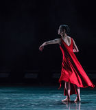 Semblez la danse à-moderne en avant Photos stock