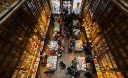 Sembrando Lello Bookstore interno, a Oporto, il Portogallo immagini stock libere da diritti