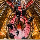 Sembrando Lello Bookstore interno, a Oporto, il Portogallo fotografie stock libere da diritti