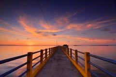 The Bridge of Sembulang Batam royalty free stock photography
