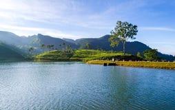 Sembuwatta Lake, Sri Lanka. Sembuwatta Lake is a tourist attraction situated at Elkaduwa in the Matale District of Sri Lanka stock photography