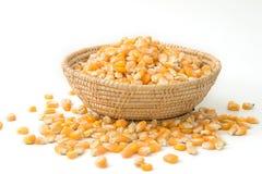 Seme del cereale sul piatto di legno Immagini Stock