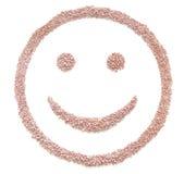 Seme del fertilizzante nella forma di sorriso Immagini Stock Libere da Diritti
