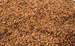 Seme di lino di Brown Fotografie Stock