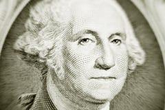 Semejanza de George Washington en una cuenta de dólar Foto de archivo libre de regalías