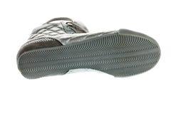 Semelle de chaussure, chaussures argentées de sports Photos libres de droits