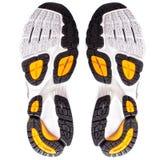 Semelle de chaussures de course d'isolement Photo stock