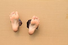 Semelles des pieds nues Photographie stock