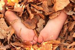 Semelles des pieds nus Images stock