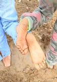 Semelles sales des pieds nus Photographie stock libre de droits
