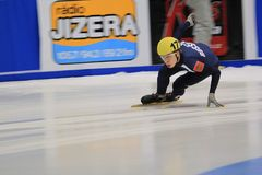 Semen Elistratov - short track Royalty Free Stock Photos