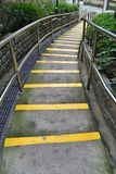 Semen stairs at the park. In Hong Kong Royalty Free Stock Image