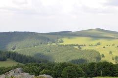 Semenic从Caras-Severin县的山风景在罗马尼亚 免版税库存图片