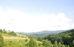 Semenic Mountain landscape from Caras-Severin County in Romania Stock Photo