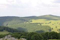 Semenic Mountain landscape from Caras-Severin County in Romania Royalty Free Stock Images