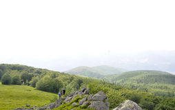 Semenic Mountain and peak Goznei from Caras-Severin County in Romania Royalty Free Stock Photo
