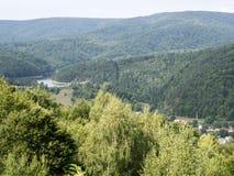 Semenic mountains, Romania. Semenic mountains, near Reșița, Romania with a view of Gozna lake Stock Photo