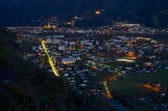 Semenina & Bellinzona на вечере Стоковые Фото