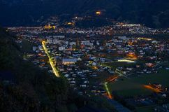 Semenina & Bellinzona at the evening Stock Photos
