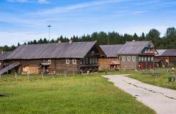 SEMENKOVO,俄罗斯- 2016年8月14日:木建筑学博物馆, Semenkovo,沃洛格达州地区 俄国 库存图片