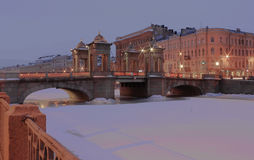 Semenov Bridge, St. Petersburg, Russia Royalty Free Stock Photos