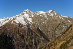 semenov szczyt 3602 m Dombai, Karachay-Cherkessia, Rosja Zdjęcie Stock