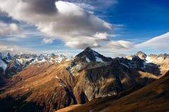 Semenovbashi峰顶(3602 m) 图库摄影