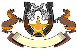 Semental, horseshoewhite del arma Fotografía de archivo libre de regalías
