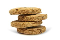 Semente da cookie de farinha de aveia da refeição da aptidão Imagens de Stock Royalty Free