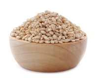 semente da grão da cevada de pérolas no fundo Imagens de Stock