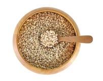 semente da grão da cevada de pérolas no fundo Fotografia de Stock