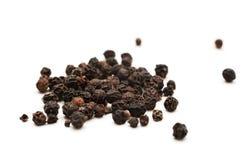 Sementes da pimenta preta Fotografia de Stock