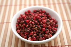 Sementes da pimenta vermelha Fotos de Stock