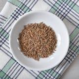 Sementes de alcaravia orgânicas Imagens de Stock