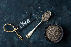 Sementes de Chia fotografia de stock royalty free
