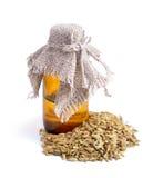 Sementes de erva-doce com óleo essetial Fotografia de Stock Royalty Free