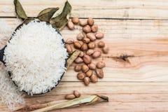 Sementes do arroz Imagens de Stock