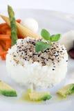 Sementes do arroz e de sésamo Foto de Stock